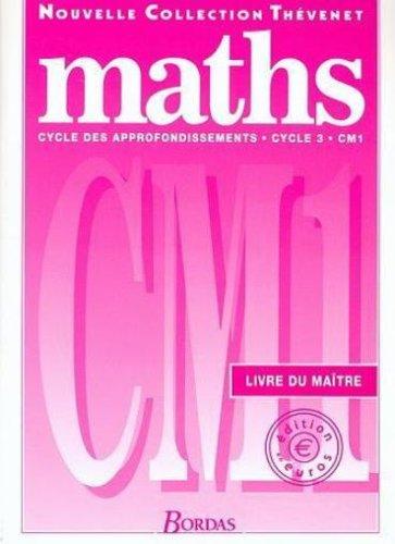MATHS THEVENET CM1 MAITRE 2001