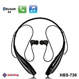 #10: SellnShip HBS-730 Neckband Bluetooth Wireless Sport Stereo Extra Bass Headsets Handsfree with Microphone for All Mobile Devices