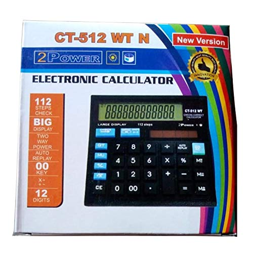 Citizen CT-512 Basic Calculator (Black) Orange Stationery