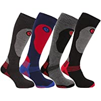 Mens 2 or 3 Pairs High Performance Thermal Snow Ski Socks Hiking Long 2.0 TOG Multi 6-11 Eur 39-45