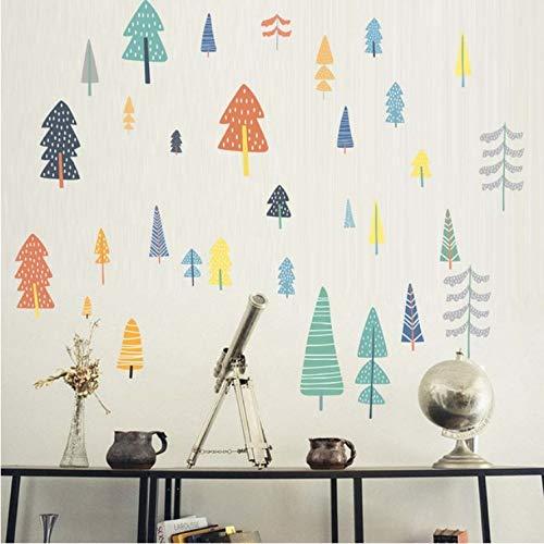 Xsongue vari alberi colorati adesivi sul muro cartoon regali di natale decalcomanie per la camera dei bambini rimovibili murales art home decoration