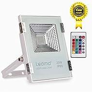 LEDMO® 20W RGB extérieur Flood light LED imperméable,Projecteur RGB/RVB à LED 20W IP65 2000lm
