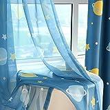 Tende oscuranti a tema cartoni animati per la stanza dei bambini (set da 2), Blue Planet Tüll, 260*140 cm