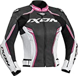 Ixon Blouson moto Vortex Lady Jkt NOIR/BLANC/FUSHIA, Noir/Blanc/Fuchsia, L