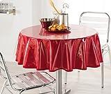 DECORLINE Nappe Cristal Uni Transparent 140 cm