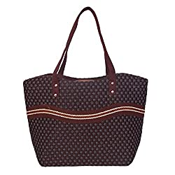 Womaniya Women's Handbag (Brown) (Handicraft Jute Bag)