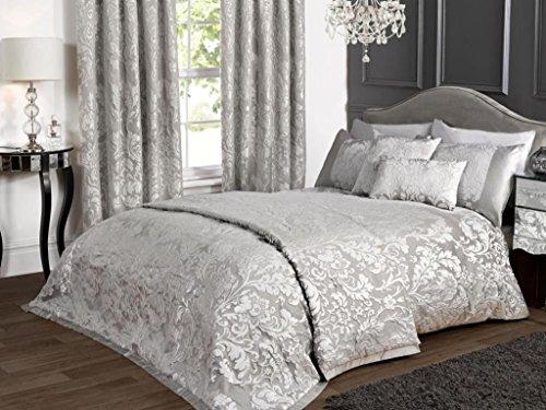 kliving Luxus Charleston grau Jacquard Bettwäsche Bettbezug Tagesdecke Boudoir Kissenbezug Vorhänge, Filled Boudoir Cushion