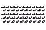 Teenitor 50 PC-Kabelclips und Kabelbefestigung 3M Self-Adhesive Adjustable Car Cable Organizer Top-Qualität Schreibtisch Wand Cable Tidy Kabelbefestigung Schellen Computer-Elektrokabel, Kabelbinder Tropfen für Multi-Kabel Schwarz