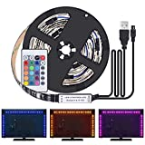 Kit de Ruban LED 2M - [4 Pack*0.5m]LED Bande 60 LEDs 5050 RGB LED Light Strip...
