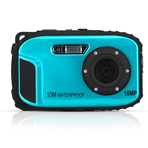 Unterwasser Kamera Stoga CGT002 2,7 Zoll LCD Digitalkamera 16MP Video Camcorder wasserdicht Kamera Zoom Video Recorder + 8 X Zoom Cam-blau (Digitalkameras Wasserdicht)