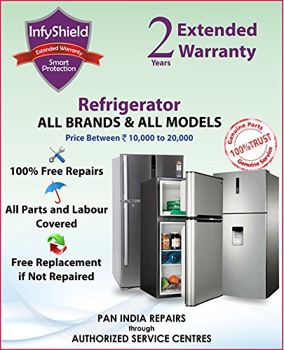 InfyShield Extended Warranty for 2 Years on Refrigerator Priced Between Rs. 10,000- to Rs. 20,000
