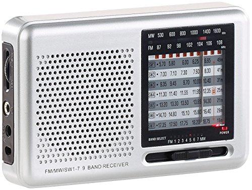 auvisio analog Radio: Analoger 9-Band-Weltempfänger mit FM, MW & 7X KW, Jackentaschen-Format (Transistorradio)