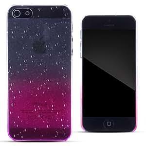 Zooky® rosa plastica goccia di pioggia cover / case / custodia per Apple iPhone 5/ 5S