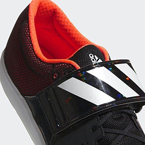 adidas Adizero Shotput, Chaussures DAthlétisme Mixte Adulte Noir (Core Black/orange)
