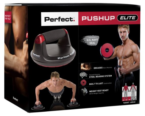 Perfect Fitness V2 Pushup Handles – Black, One size