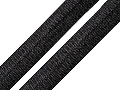 Schnoschi 2 Meter Elastisches Einfassband 18 mm Schwarz