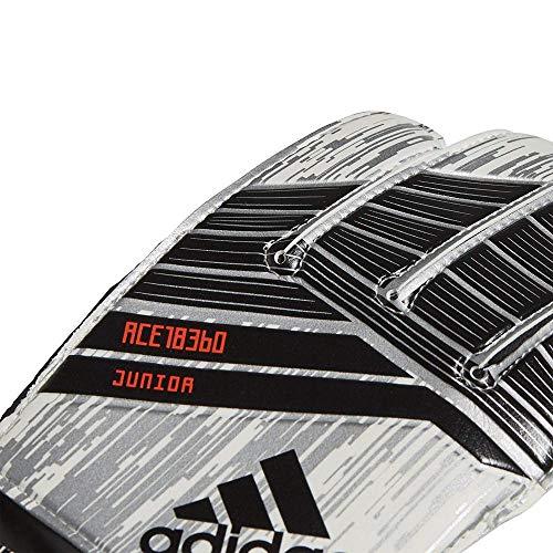 adidas Kinder Predator Junior Mamuel Torwarthandschuhe, White/Silver Metallic/Solar Red, 7