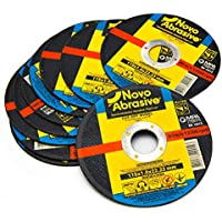 NOVOABRASIVE Metal Cutting Discs 115mm x 1mm (Pack of 10 PCS) for Angle Grinder Use for Cut Metal, Stainless Steel, Steel and Non-Ferrous Metals