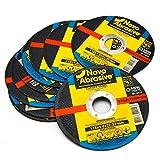 NOVOABRASIVE Discos De Corte 115 x 1,0 x 22,2 mm. Juego de 10 piezas. Para Metal, Acero Inoxidable, Acero Y Metales No Ferrosos.