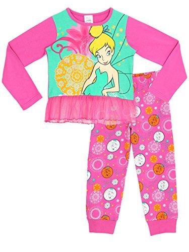 Blumen Baumwolle Pjs (Disney Tinkerbell Mädchen Tinkerbell Schlafanzug 116cm)
