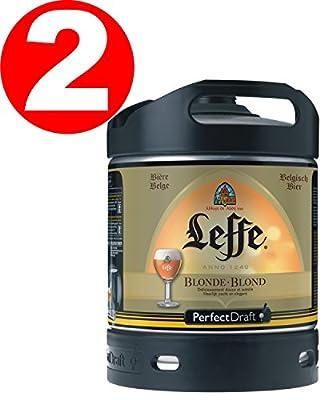 2 x Leffe blonde aus Belgien Perfect Draft 6 Liter Fass 6,6 % vol.