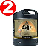 2 x Leffe cerveza de Bélgica Perfect Draft 6 litros barril 6,6 % vol.