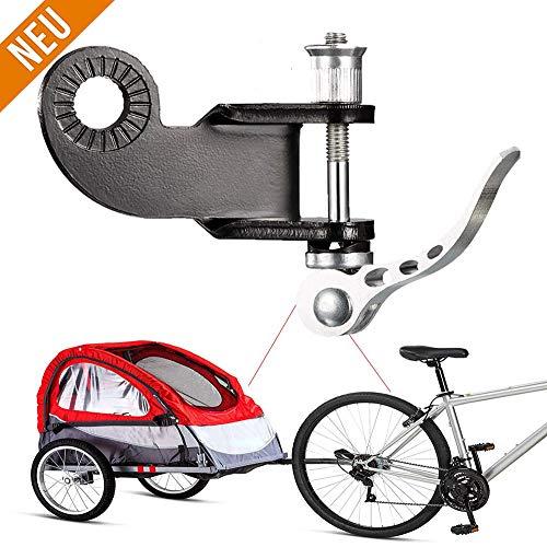 XUNKE Fahrradanhänger Kupplung, Kupplung für Kinderanhänger, Fahrrad Anhängerkupplung für Kinderanhänger inkl, Zusätzliche Fahrrad Kupplung für Kinderanhänger inkl. Montageanleitung