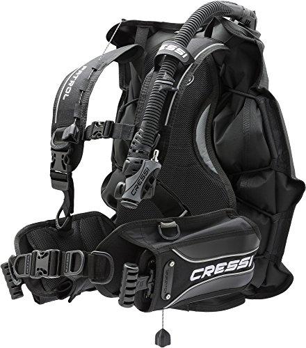 Cressi Patrol -Tarierjacket der EXTRAKLASSE- Professionnels Model mit Blase auf der Rückseite, Schwarz, L