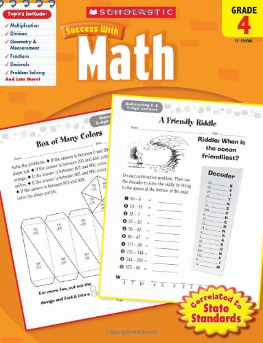 Math, Grade 4 (Scholastic Success with Workbooks: Math)
