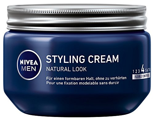Nivea Men Styling Cream Natural Look Haar-Gel, 3er Pack (3 x 150 ml)