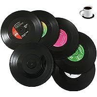 Bllatta Spinning Retro del Disco de Vinilo Bebidas Posavasos Mat 6pieces/Set