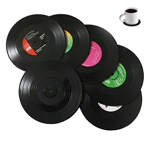 Bllatta Vinyl Untersetzer Tischsets Schallplatte Retro Style Records CD(6er Set)