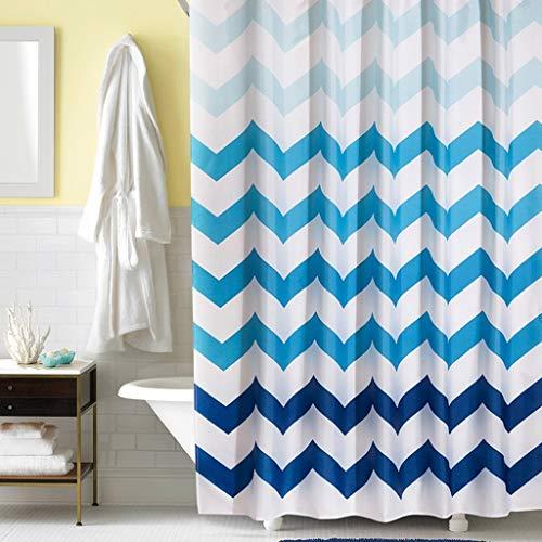 C-YL Duschvorhänge Form Proof Resistant Waschbar Badezimmer Prisma Welle Wasserdicht Dicker Polyester Erhöhte Bleifall mit Haken, 120 * 180 cm (Prisma Garn)