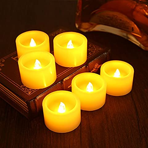 Ranipobo Set of 6 Flameless LED Candles Realistic Dancing Flame Battery Operated Scented Tea Lights with Remote Control for Festival Celebration Home