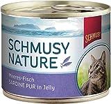 Schmusy Nature Meeres-Fisch Sardine pur 185g Dose