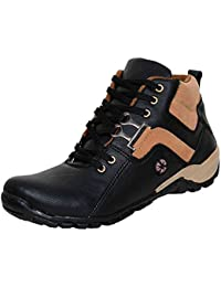 Stylish Men's Synthetic Leather Mid Ankle Length Boots Shoes For Men And Boys By Moonster - B076X3M287