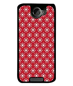 PrintVisa Designer Back Case Cover for HTC One X :: HTC One X+ :: HTC One X Plus :: HTC One XT (Illustration Celebration Traditional Christmas Decoration Decorative Beautiful Silhouette)