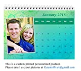 PyramidMart Customized 2018 Desk Calendar - 6in x 8in - Personalize With Your Own 12 Pictures - Spiral Bound At Top - DCAL68-H21