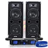 Best Dj Speaker Pairs - Pair of Max Twin 8 Inch PA Speakers Review