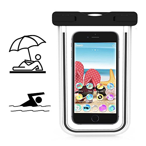 Smartphone Schutzhülle | Mobiwire Taima | Wasserdichte | Staubdichte Handy Beachbag | HBB Schwarz