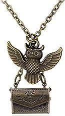 El Regalo Bronze Harry Potter Owl Post Envelop Pendant with Letter for Men and Women