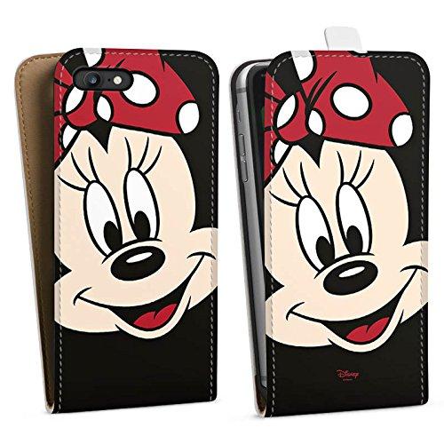 Apple iPhone 6 Plus Tasche Hülle Flip Case Disney Minnie Mouse Geschenk Merchandise Downflip Tasche weiß