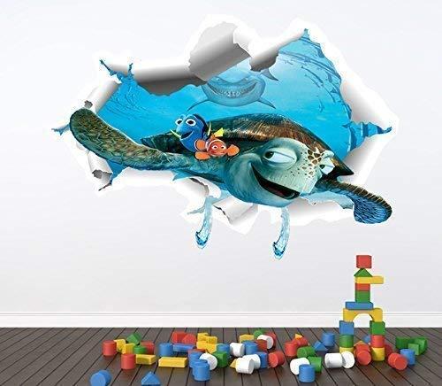 1Stop Graphics Shop Findet Nemo volle Farbe Wandaufkleber - Mädchen Jungen Disney Schlafzimmer C355 - Large: 70 cm x 100 cm