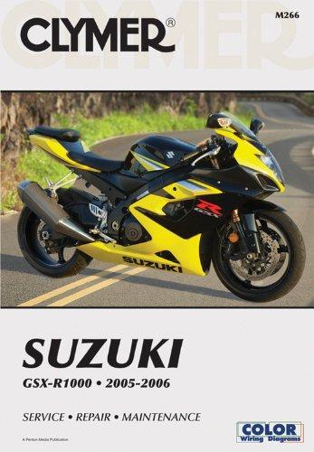 Suzuki Gsx R1000 2005 2006 Clymer Color Wiring Diagrams