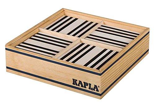 KAPLA B100NB Holzplättchen, 100er Box schwarz/weiß - 2