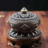 Tibetische Räuchergefäss, Frideko Klassisch Buddhistische Lotus Räucherschale aus Nepal