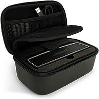 igadgitz Noir EVA Housse de Voyage Case Rigide pour Bose Soundlink Mini I et Mini II Haut-Parleur Bluetooth