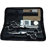 Forbici professionali da 6 pollici personalizzano l'acciaio inossidabile 440c che taglia il parrucchiere e lo strumento diradamento dei capelli