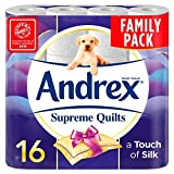 Andrex Supreme Quilts Toilet  Tissue - 16 Rolls