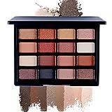 MA87 - Palette di ombretti opachi in crema, 16 colori e Argento, colore: B, cod. A-14